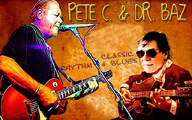 Pete C & Dr Baz Blues Duo, Byron Bay